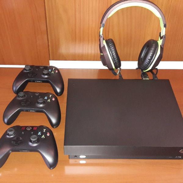 console xbox one x 1tb 4k microsoft