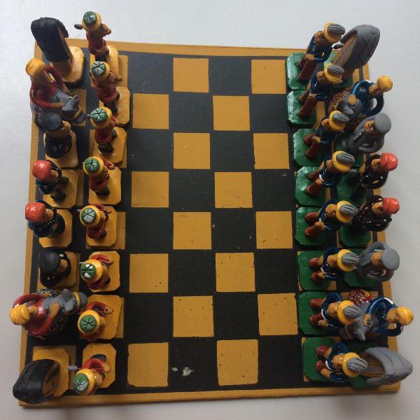 jogo de xadrez- artesanato nordestino