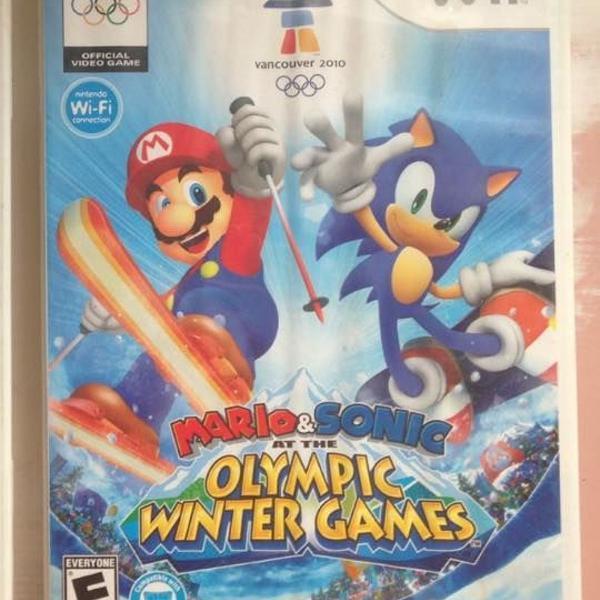 mario e sonic winter olympic games completo r$140