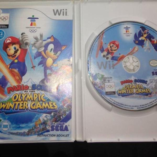 mario sonic olympic winter games completo nintendo wii r$138