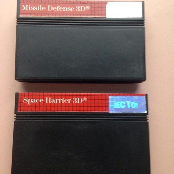 míssile defense 3d e space harrier 3d master system r$115