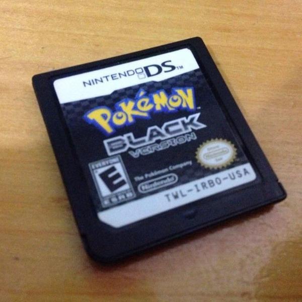 pokemon black version card nintendo ds mídia fisica r$149