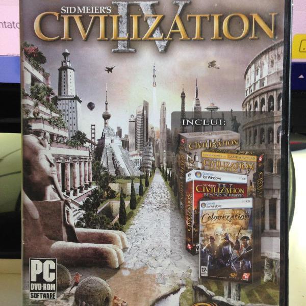 sid meier´s civilization 4 jogo de pc usado ler tudo r$56