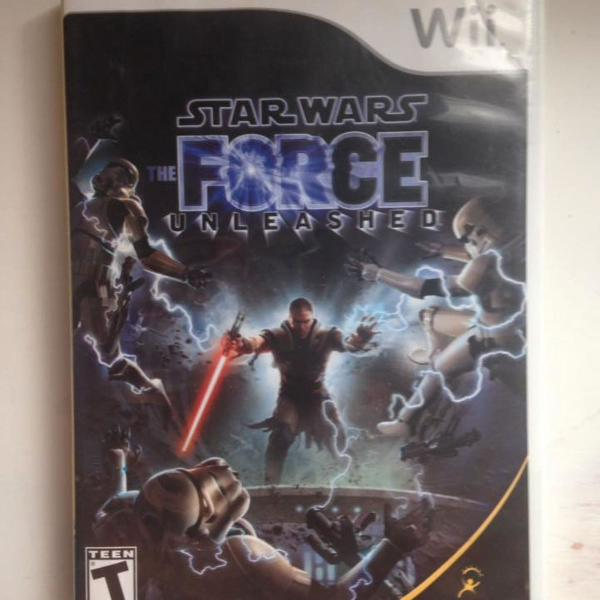 star wars force unleashed 1 e 2 nintendo wii r$199