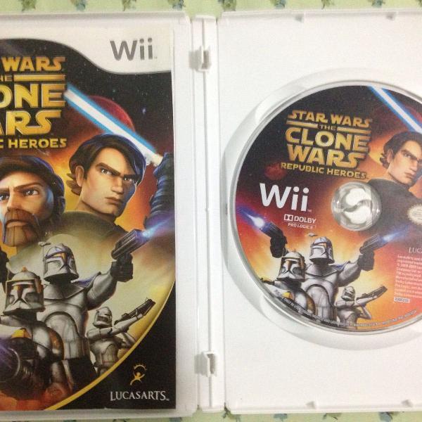 star wars the clone wars nintendo wii mídia física r$75