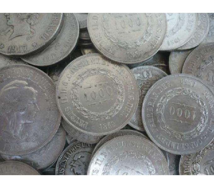 COMPRO MOEDAS ANTIGAS DE PRATA ANTERIORES A 1.913 R$1.100 Kg