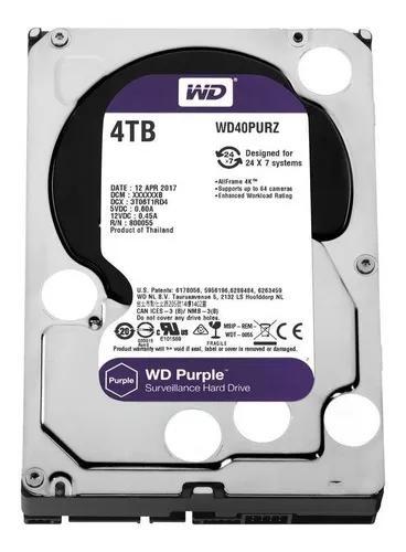 Hd 4tb Wd Purple Dvr Intelbras Luxvision Hikvision