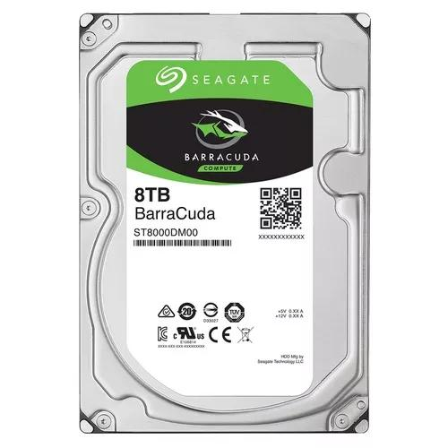 Hd 8tb Seagate Barracuda Sata Desktop 5400rpm 256mb Novo 12x