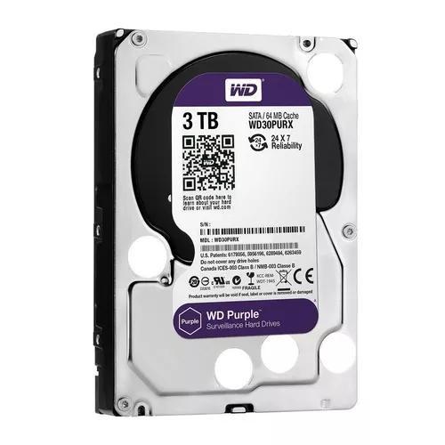 Hd Dvr Cftv 3tb Western Digital Purple Wd30purz
