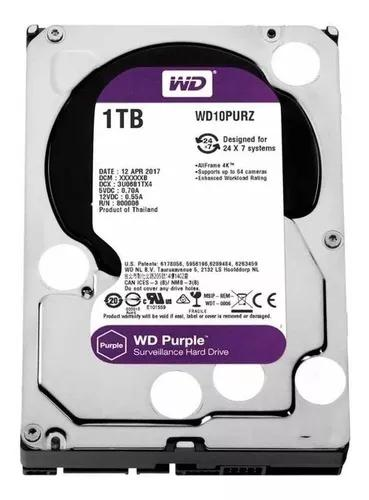 Hd Sata3 Wd 1tb Purple Dvr Intelbras - Original Lacrado Nfe