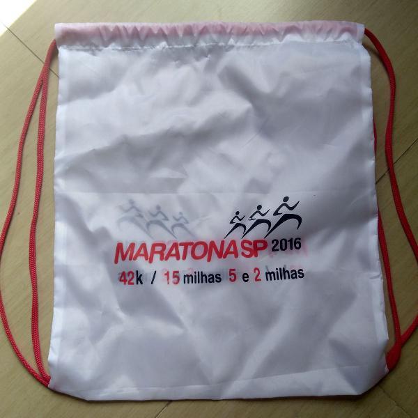 gym bag exclusiva da maratona de são paulo