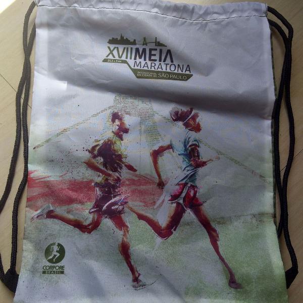 gym bag exclusiva da meia maratona de são paulo