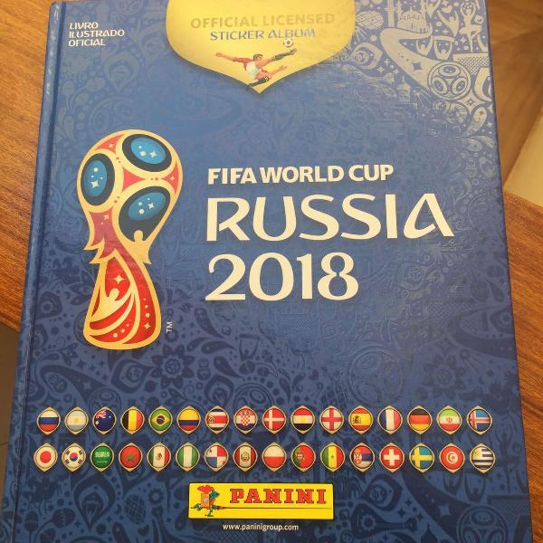 lbum copa do mundo 2018 completo + kit de atualização