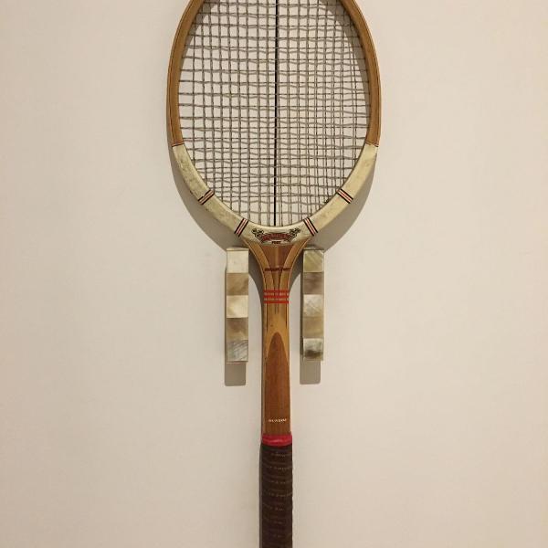 raquete de tênis de madeira dunlop