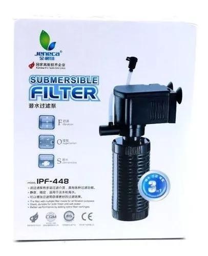 Bomba Submersa Com Filtro 450 L/h Para Aquário 110v