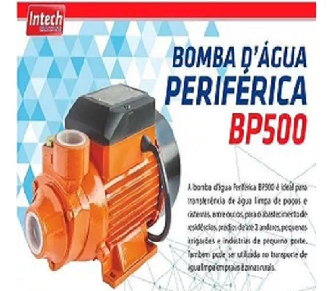 Bomba Água Periférica BP500 12 HP 127V Intech Machine