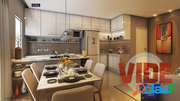 Vila Industrial: Apartamento com 2 dormitórios (1 suíte),