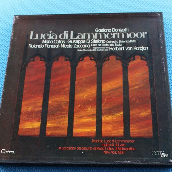 caixa com 3 lps vinil gaetano donizetti - lucia di