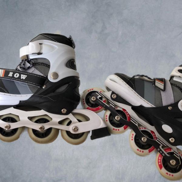 2 pares de patins row usado 1 vez