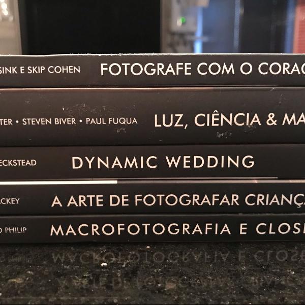 coleção de livros de fotografia