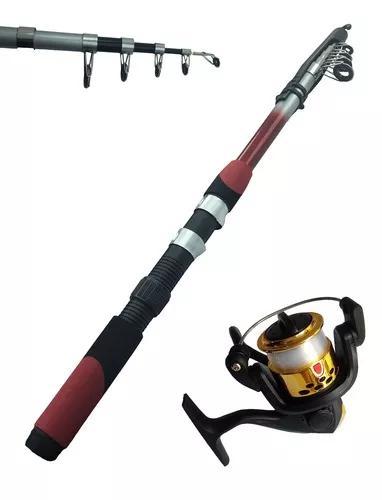 1 Vara De Pesca 2,10 14lbs + 1 Molinete 3 Rolamentos