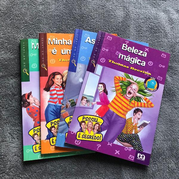 4 livros infanto-juvenis da coleção olho no lance