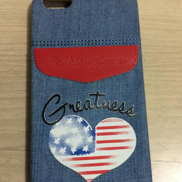 Capinha / capa / case jeans emborrachada para iPhone 5 / 5S