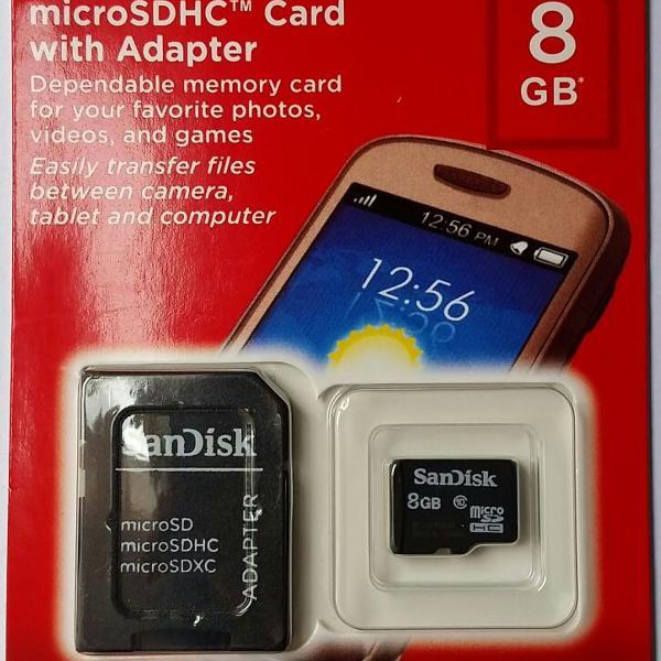 Cartão De Memória Micro Sd 8gb Sandisk Original Classe 4
