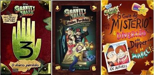 Coleção Gravity Falls (3 Livros) Diário + Lendas +
