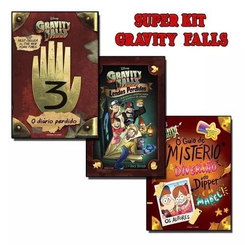 Gravity Falls 3 Livros Diario 3+ Lendas Perdidas+ Guia De Mi
