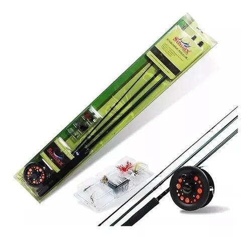 Kit Conjunto Pesca Fly Fishing Vara Carretilha Linha - #5/6