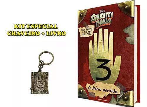 Livro Gravity Falls - Diário 3 - Original + Chaveiro