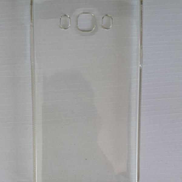 capa transparente de silicone para samsung j7 metal (2016)