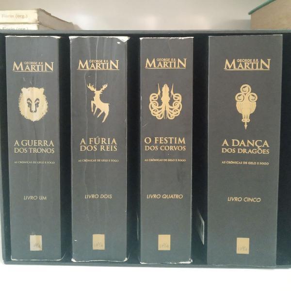 Box Incompleto Crônicas de Gelo e Fogo (Livros 1, 2, 4 e 5)