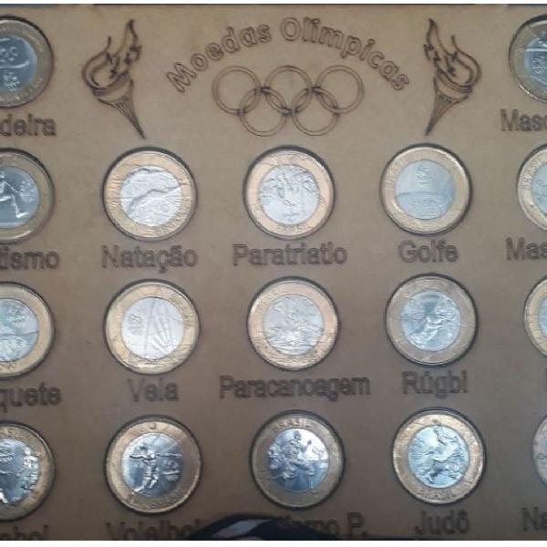 Coleção completa de moedas das olimpíadas