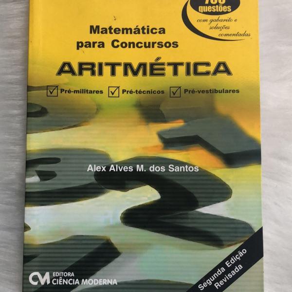 livro de matemática para concurso