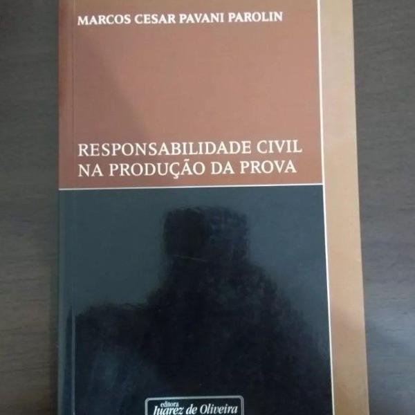 livro responsabilidade civil na produção da prova