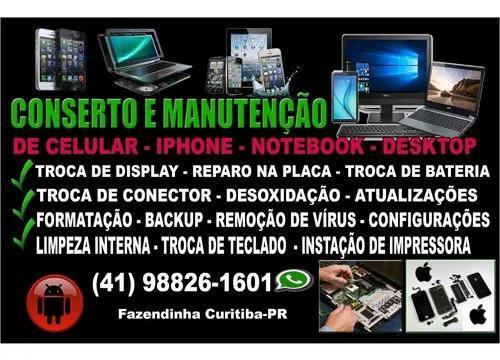Conserto E Manutenção De Celular, iPhone, Notebook,
