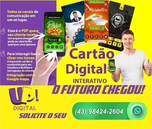 Novo Cartão De Visita Digital Interativo Com Gerenciamento