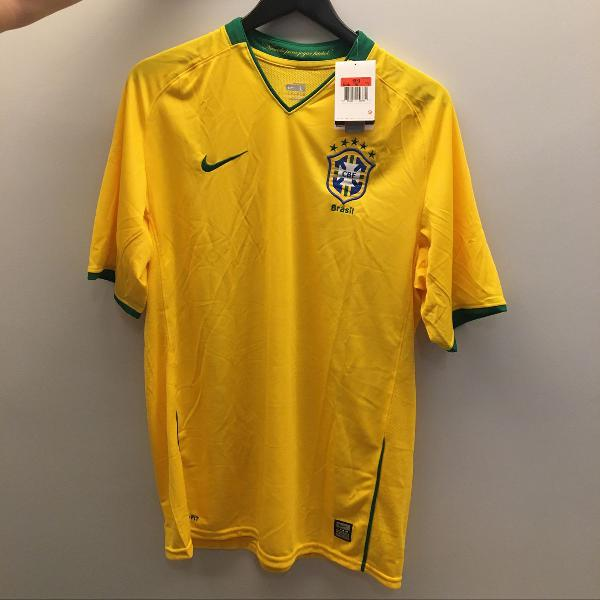 camisa seleção brasileira 2009 original nike nova