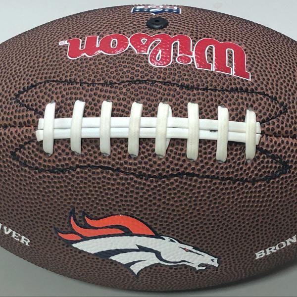 bola de futebol americano - wilson - nfl - denver broncos