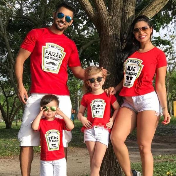 kit de camisas familia estilo ketchup valor cada camisa