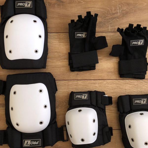 kit de proteção para patinar e skate