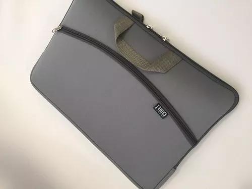 Capa P/ Notebook Com Bolso Neoprene 11 13 14 15 Cinza