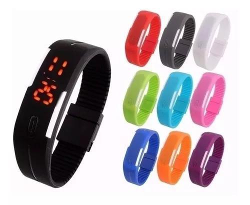 Kit 10 Relógio Led Digital Sport Bracelete Pulseira