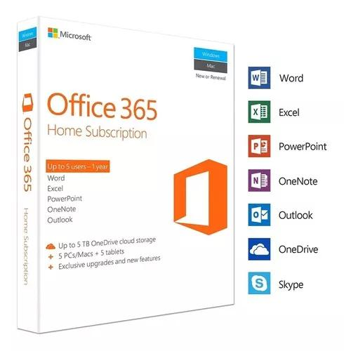 Office 365 - Assinatura Por 1 Ano Com Seu
