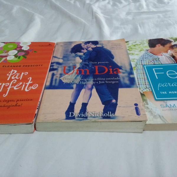 livros um dia, par perfeito e feito pra você usados