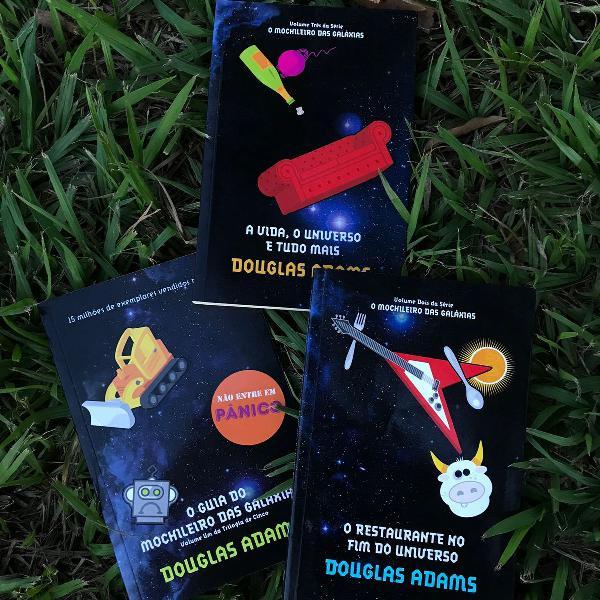 o mochileiro das galáxias combo volume 1, 2 e 3 douglas