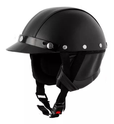 Capacete Pro Tork Coquinho Moto Custom Couro Harley