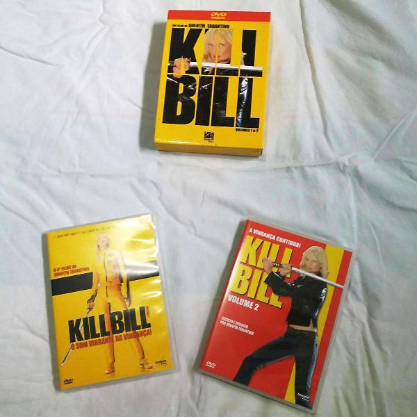 box kill bill (1 e 2) com 2 discos - quentin tarantino